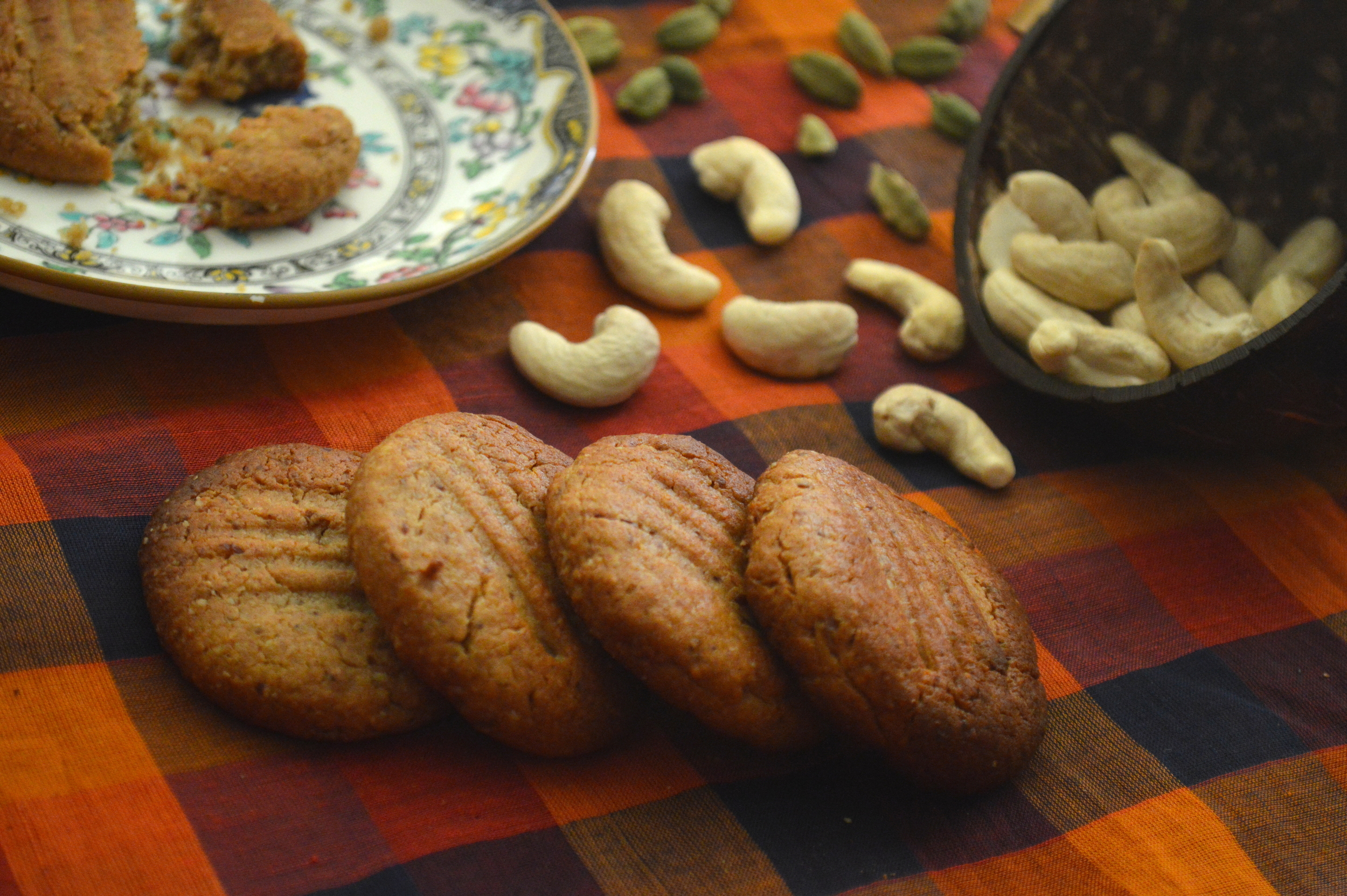 Cashew butter biscuits, onelifetwoways, south indian, vegan