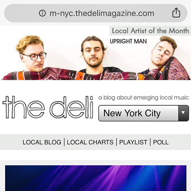 Oooooooooo that looks nice 😍 Thank you so much to everyone who helped us win @thedelimag ARTIST OF THE MONTH—we couldn't have done it without you. 🙏 You can now see our beautiful faces on the top of their website for all of April.