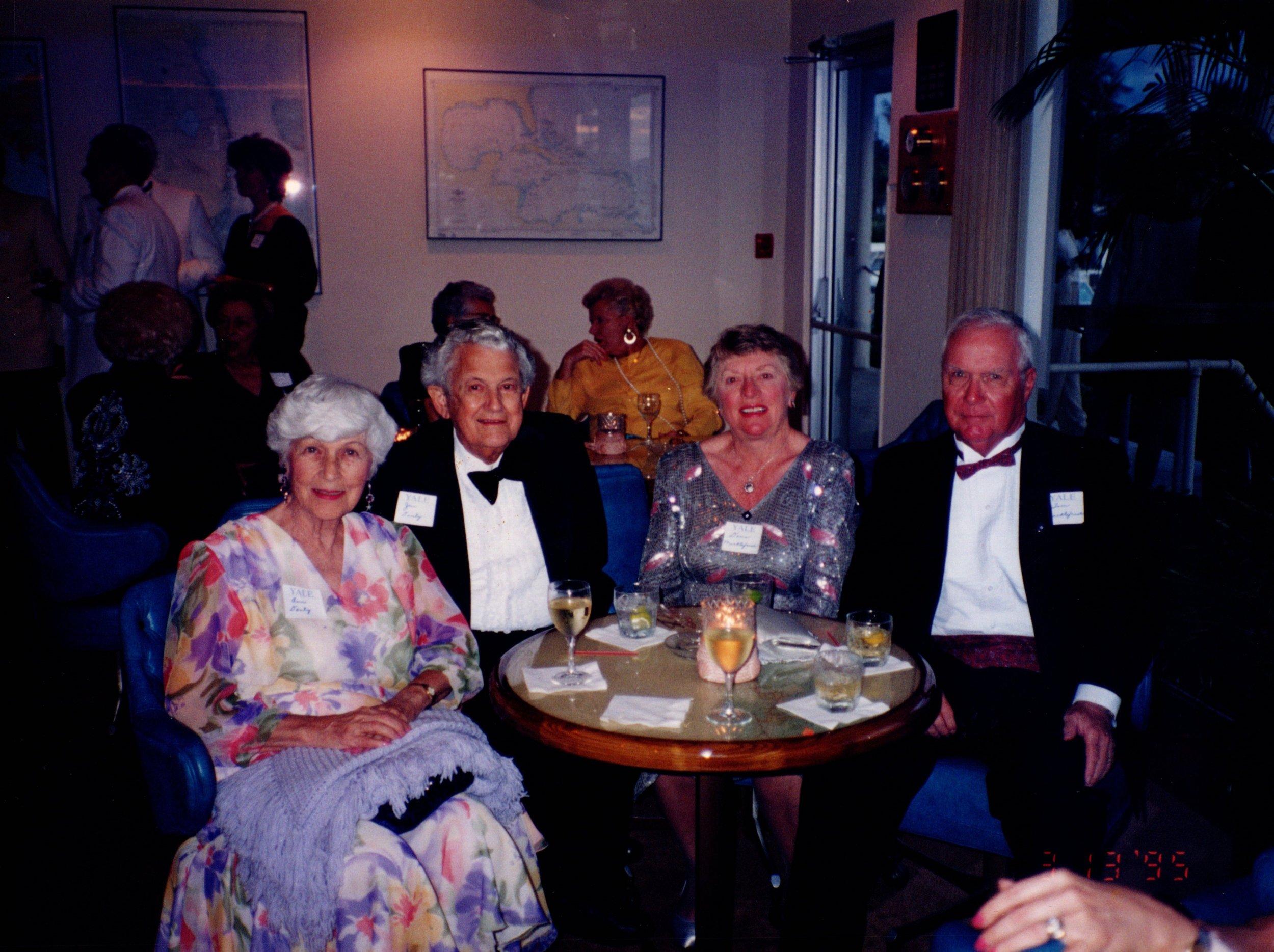 ANN DANLY, JIM DANLY '39S, DORIS MACKELFRESH, TOM MACKELFRESH '51