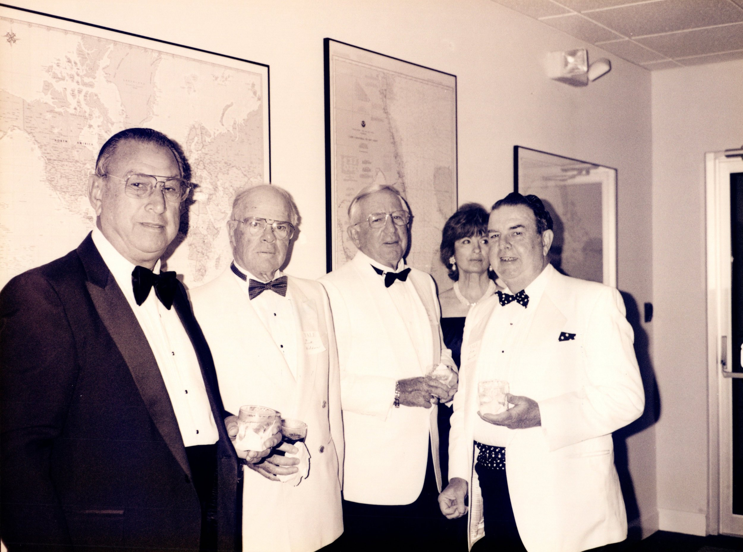 ARNOLD GARFINKEL '62MA, DICK BENNETT '52, TOM JONES '40