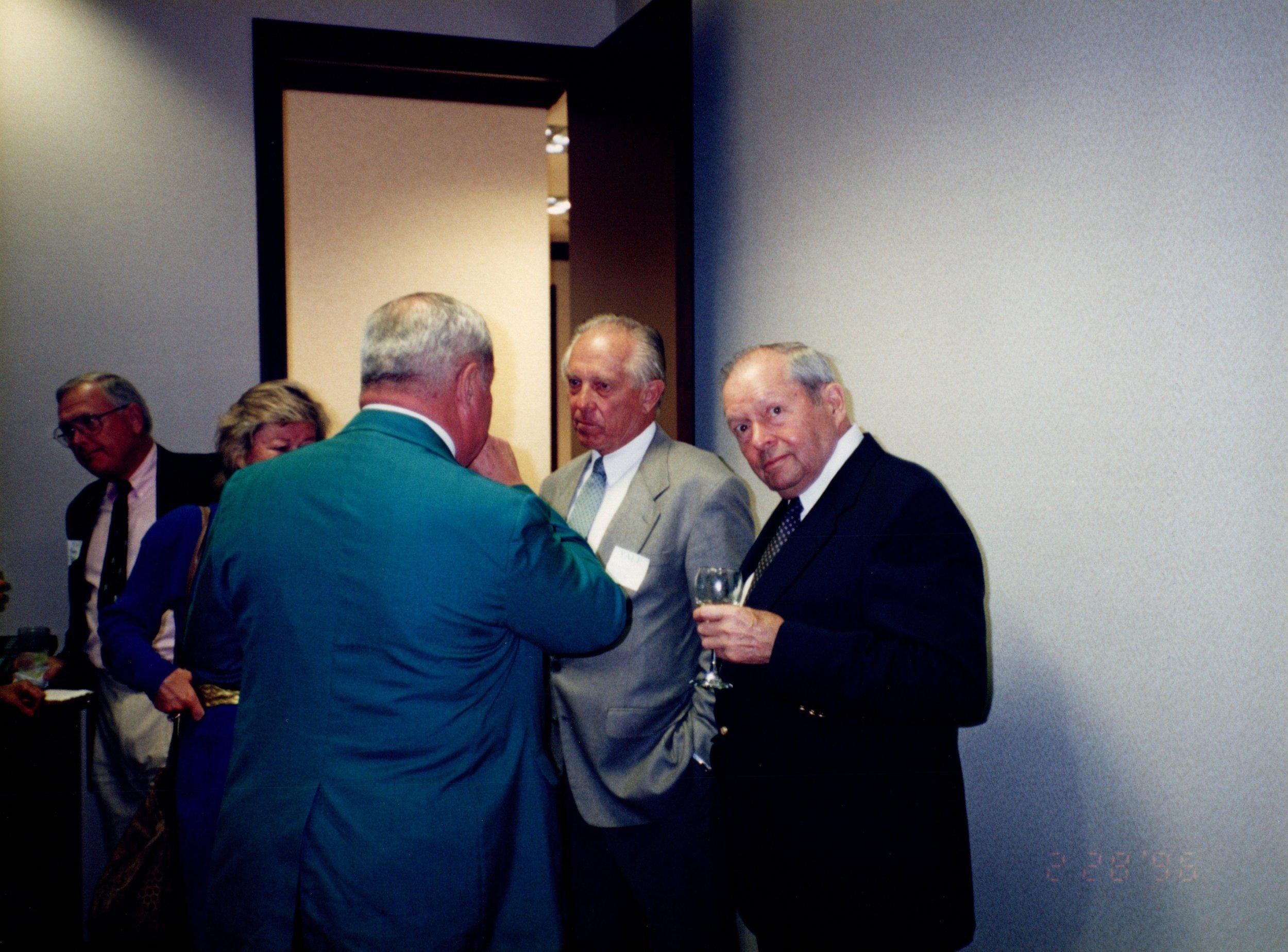 TOMMY FOSTER '56, RICHARD BAIRD '48, DAVID EAGLESON '49