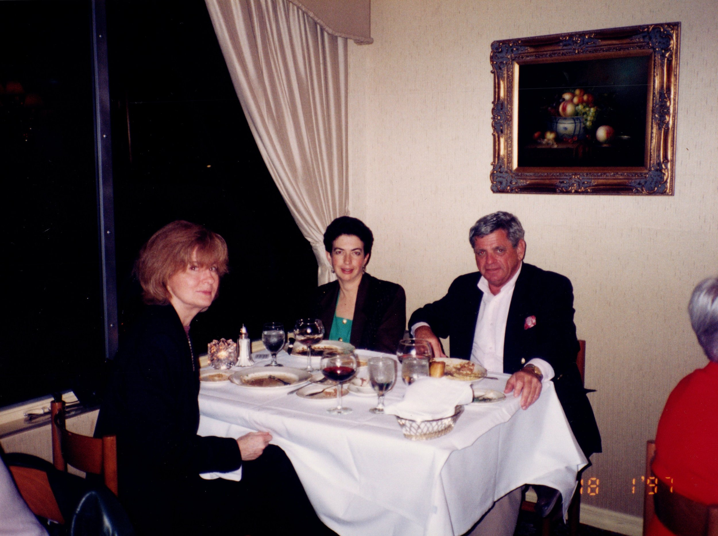 PROF. MILLER, ARNOLD GARFINKEL '62MA, CAROL HUNT