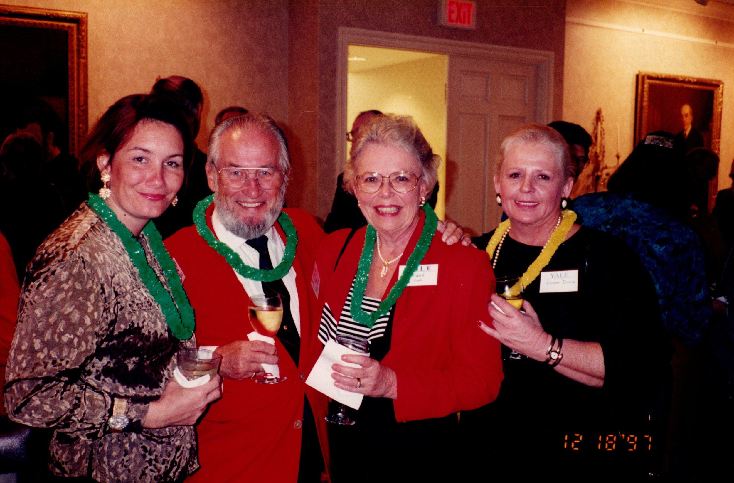 LISA BALDWIN, TED GAULT '54MDIV, CAROL GAULT, LINDA DAVIS