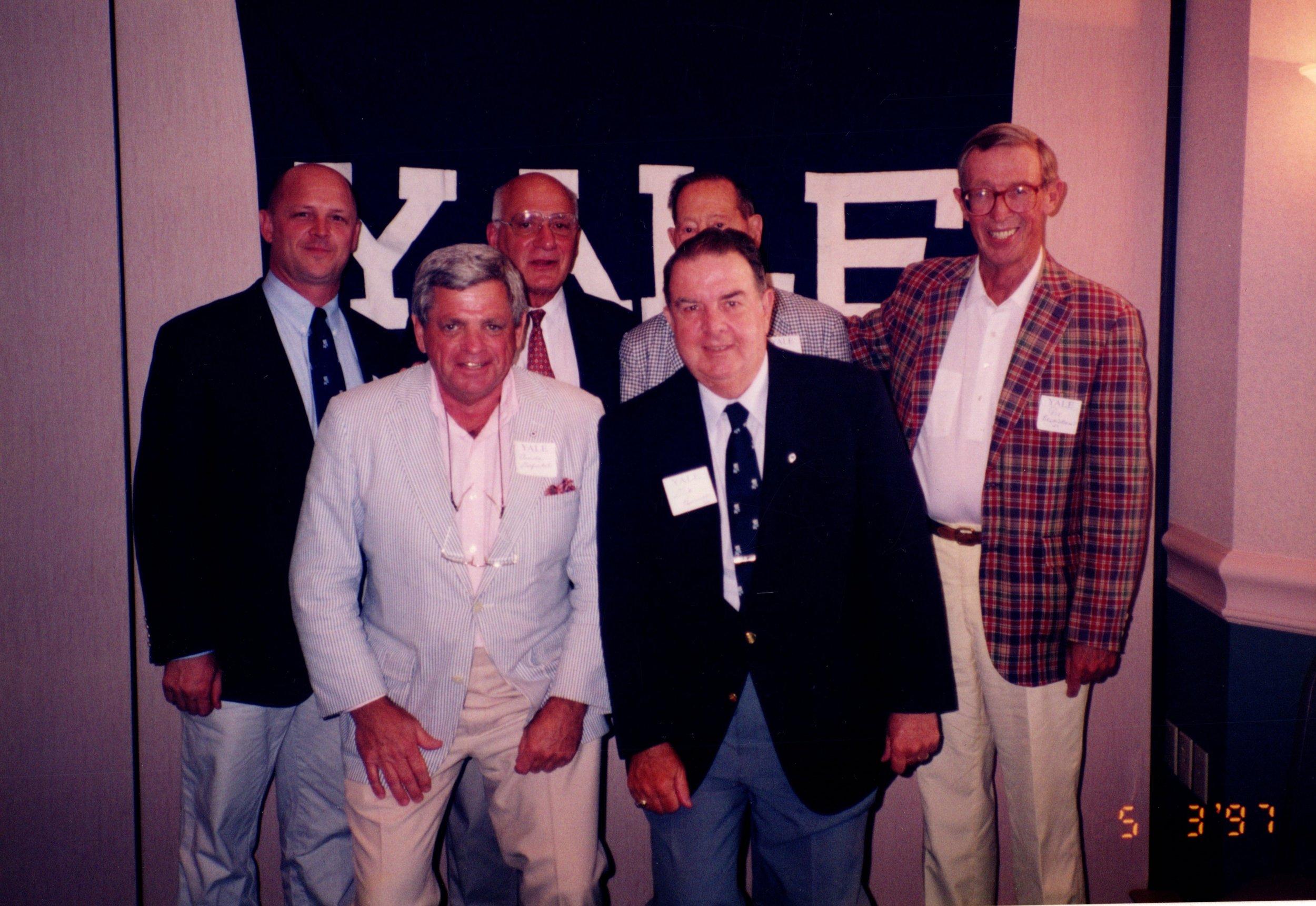 BACK ROW: JACK SIEDLECKI, CARM COZZA, CHARLIE O'HERN '24S, PETE BROADBENT '47E FRONT ROW: ARNOLD GARFINKEL '62MA, DICK BENNEETT '52