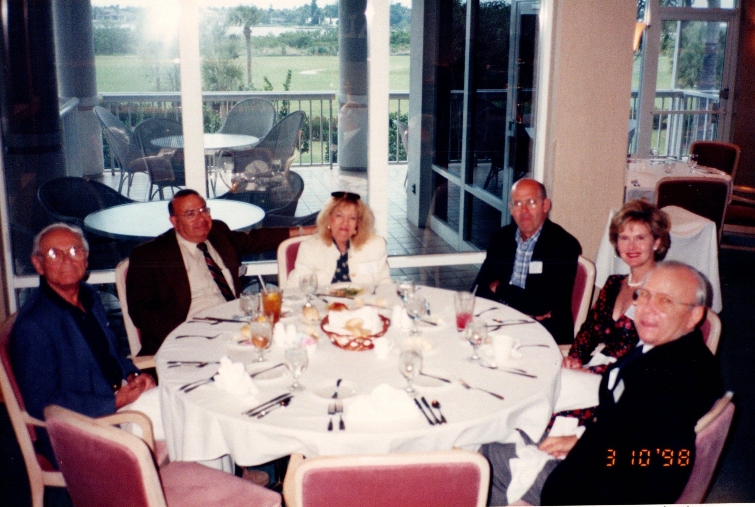 MIRIAN AND BOB KALETT '58, MICHAEL AND SHERRY O'HEARN, BOB HANEMER '53E