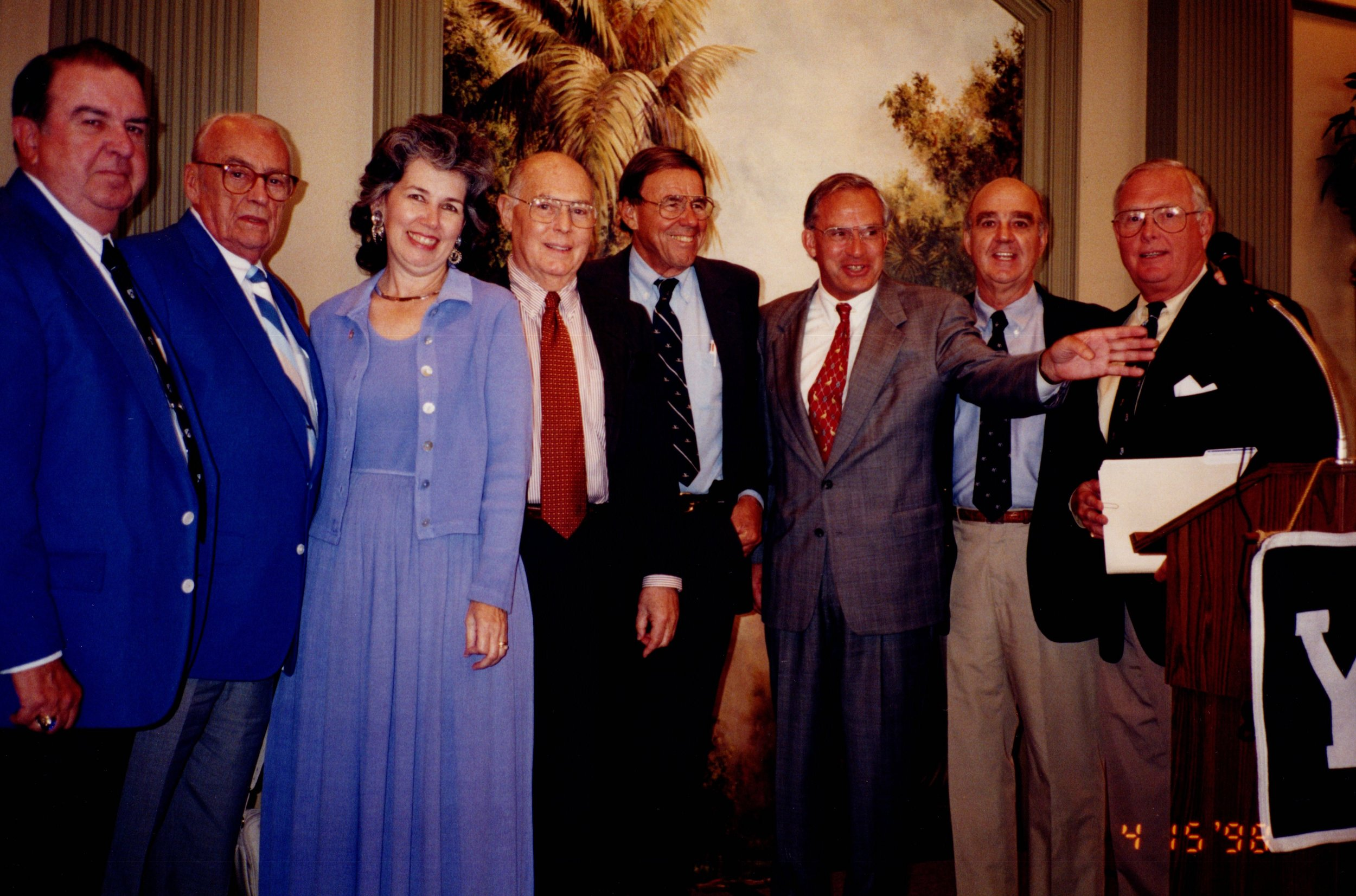 DICK BENNETT '52, BUD MERRELL (BROWN), BILL MACILVAINE (PRINCETON), BOB BENNETT '44