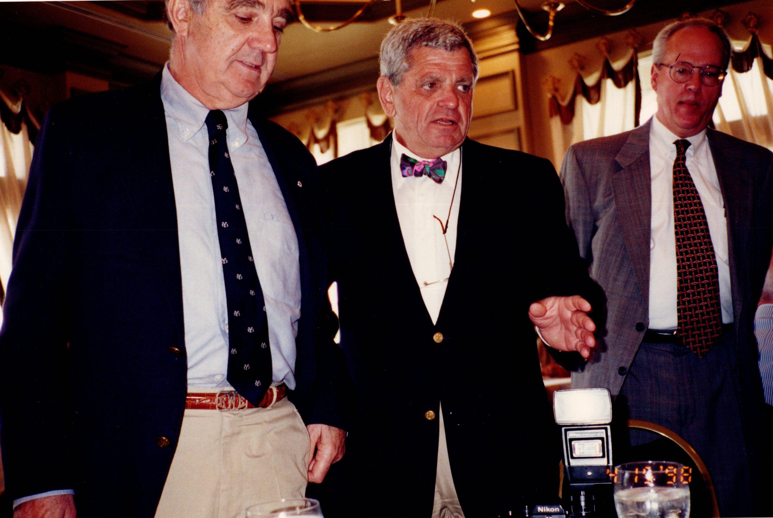 BOB WENZEL '53E, ARNOLD GARFINKEL '62MA, ELTON LEHEW '63