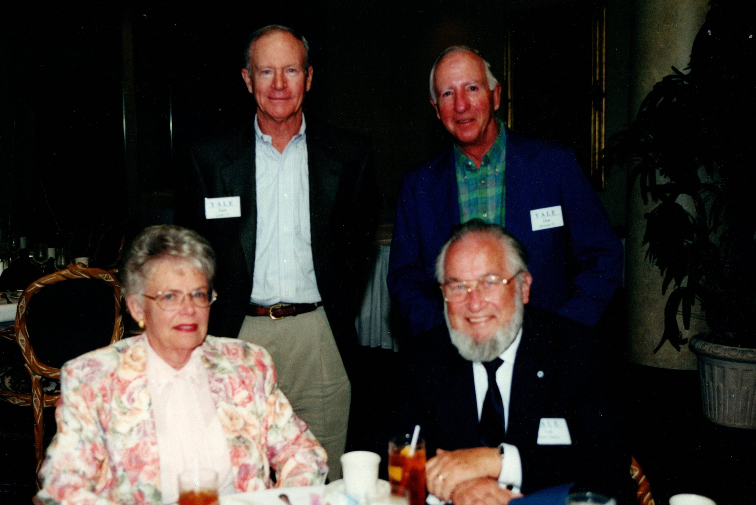 SAM COOLEY '53, DON WILLIAMS '53, CAROL AND TED GAULT 54'MDIV