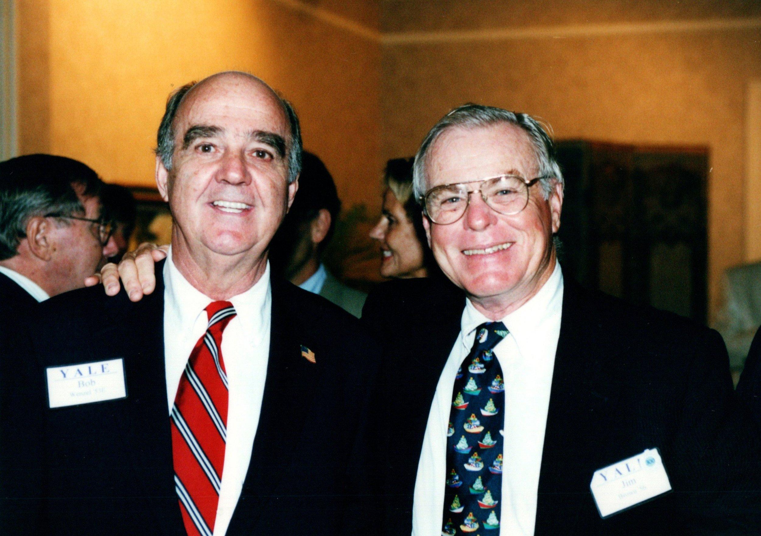 BOB WENZEL  '53E, JIM BROWN '56