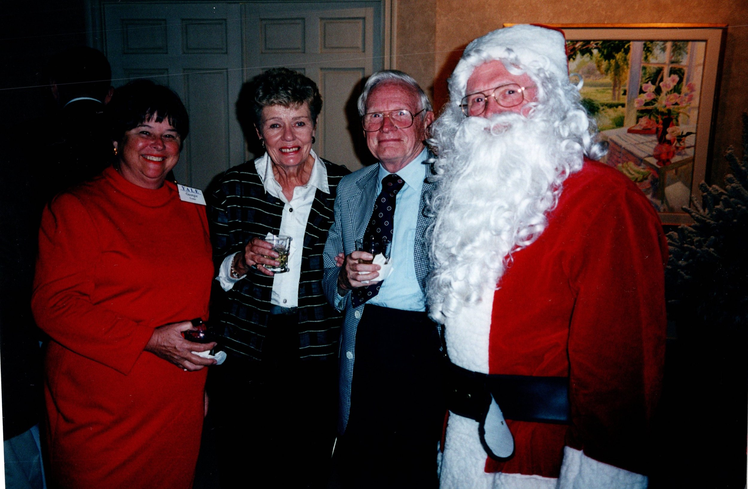 GEORGIE FOSTER, CLAIRE AND DON CREPON '54E, SANTA CLAUS