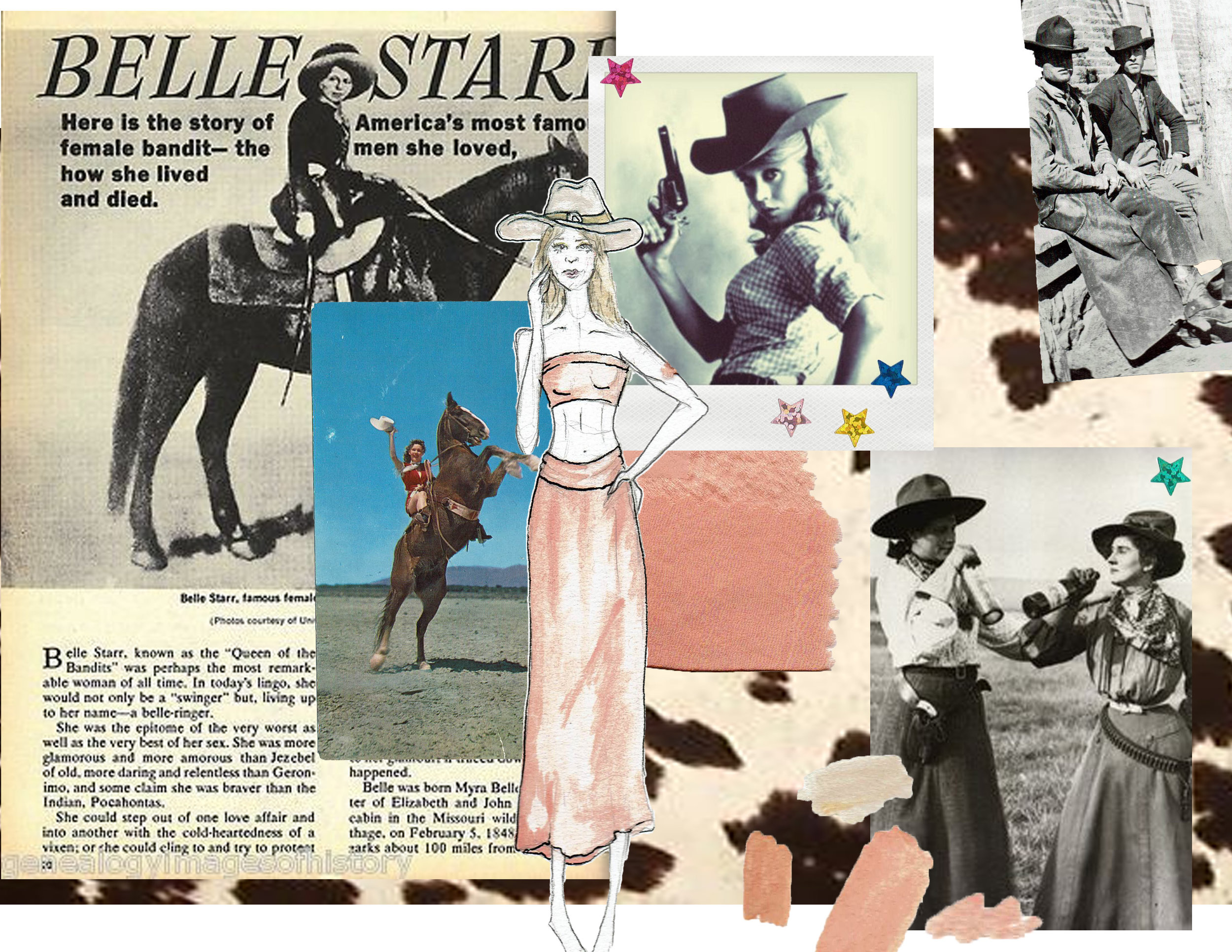 Collection inspired by strong, notorious,  fearless, cowgirls of the past.