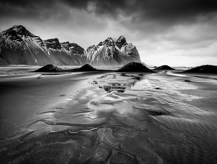 Iceland Beach and Mountains