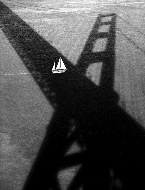 Golden Gate Bridge with Sailboat