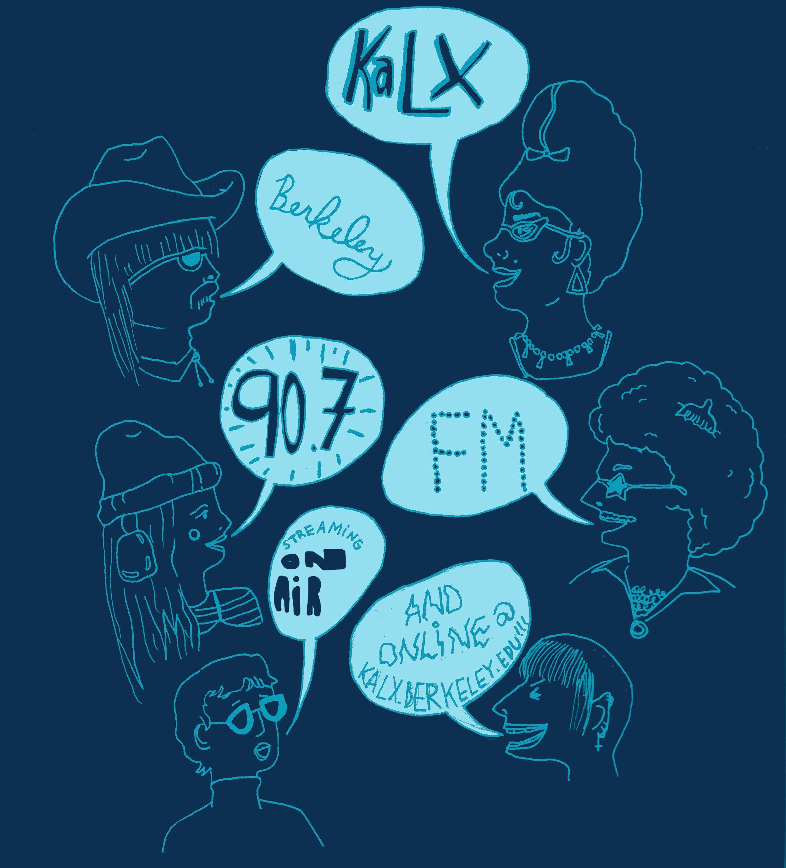KALX Radio Station t-shirt design. 2015.