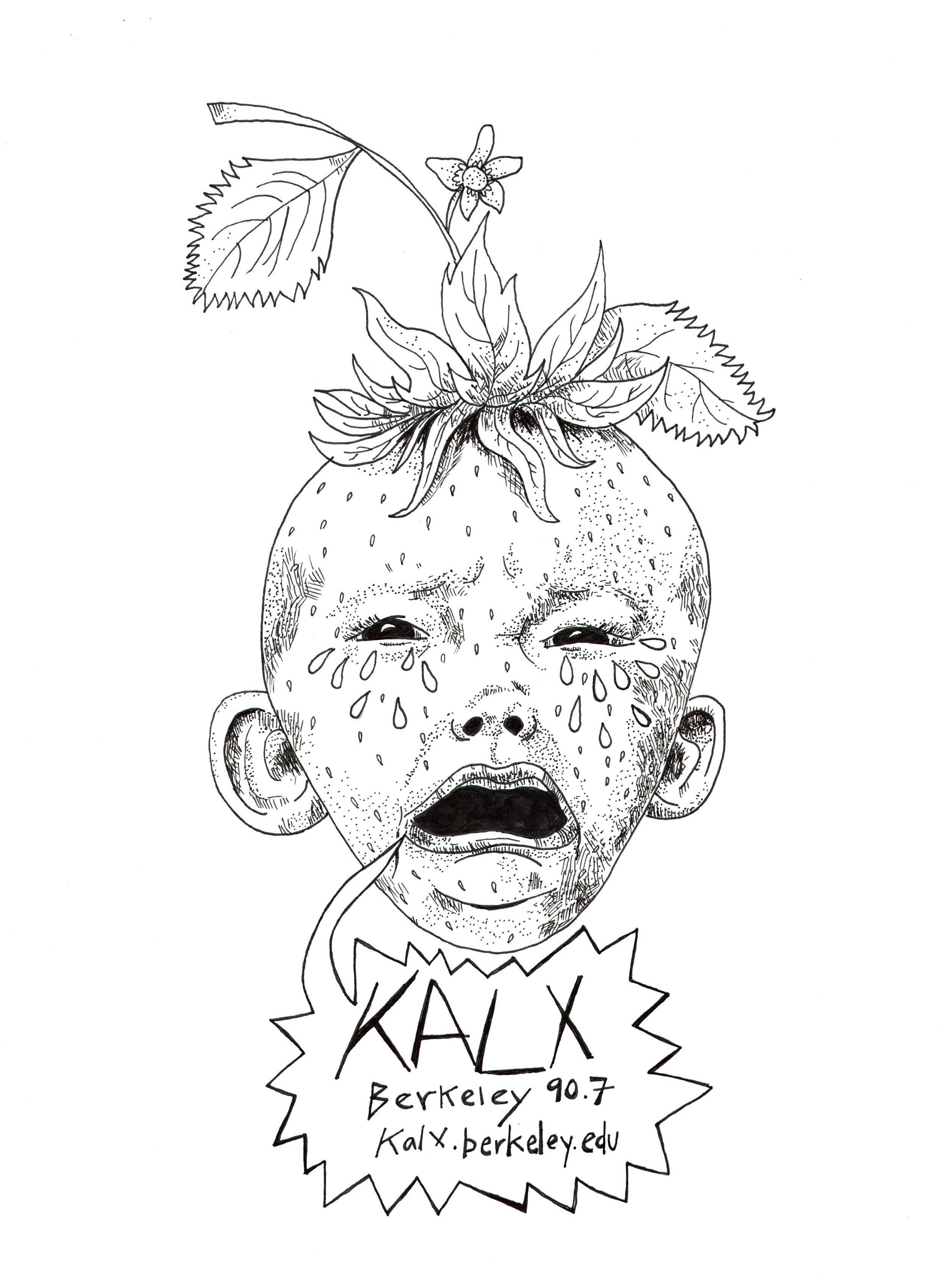 KALX Radio Station t-shirt design. 2016.