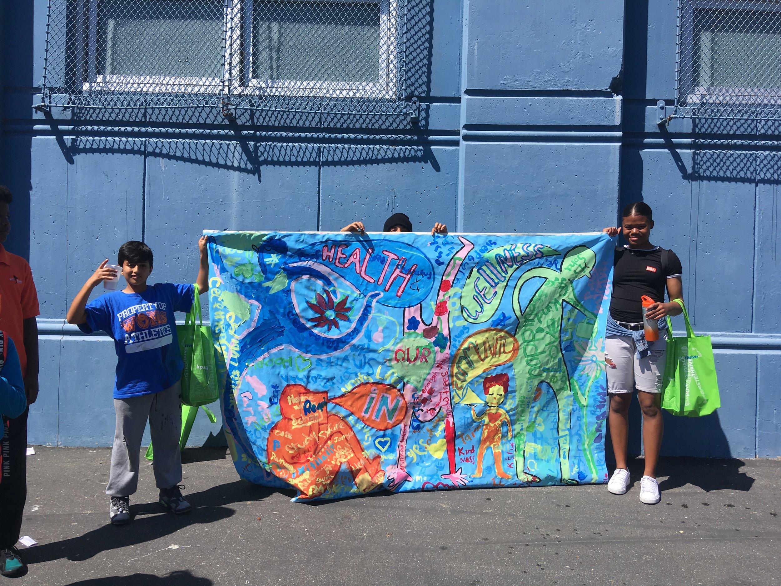 Heath & Wellness Mural at West Oakland Middle School