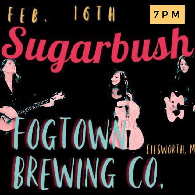 This show is happening next month in Ellsworth! Come on out to the new @fogtownbrewing location for a fun night of original Sugarbush tunes with our full band and Fogtown brews.
