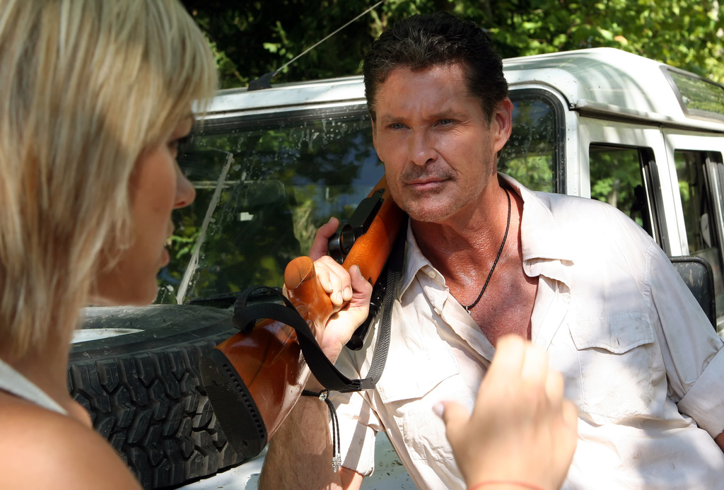 David Hasselhoff at  Anaconda 3 (2008) - Dir.  Don E. FauntLeRoy
