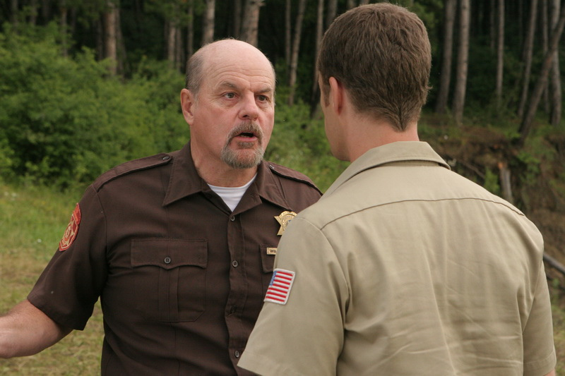 Michael Ironside at Lake Placid 3 (2009) - Dir. Stephen Furst