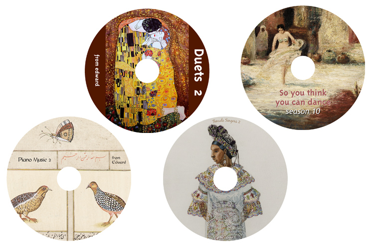 examples of CD labels created by users.