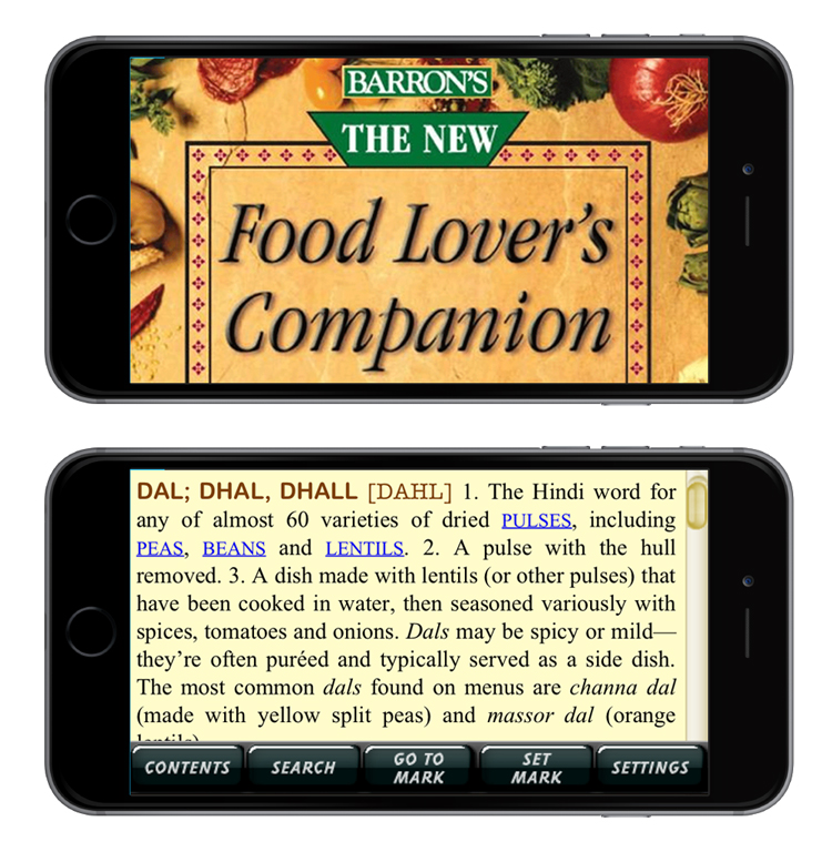 screenshots from Barron's  Food Lover's Companion