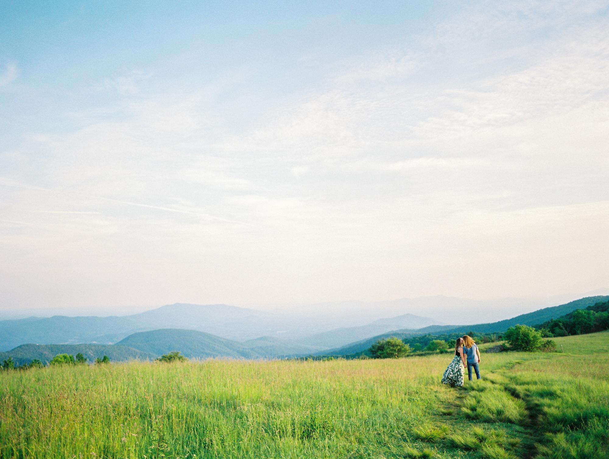 Earthy Blue Ridge Mountain Engagement Session