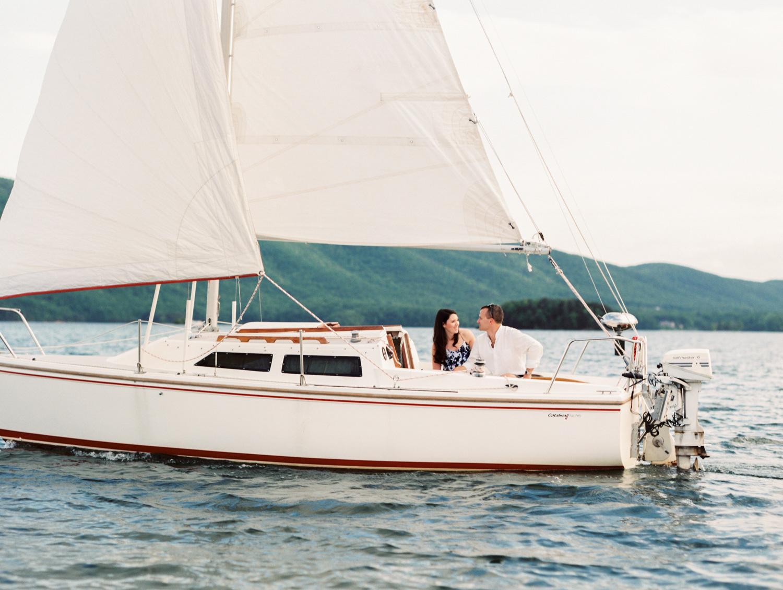 Nautical Sailboat Engagement Session
