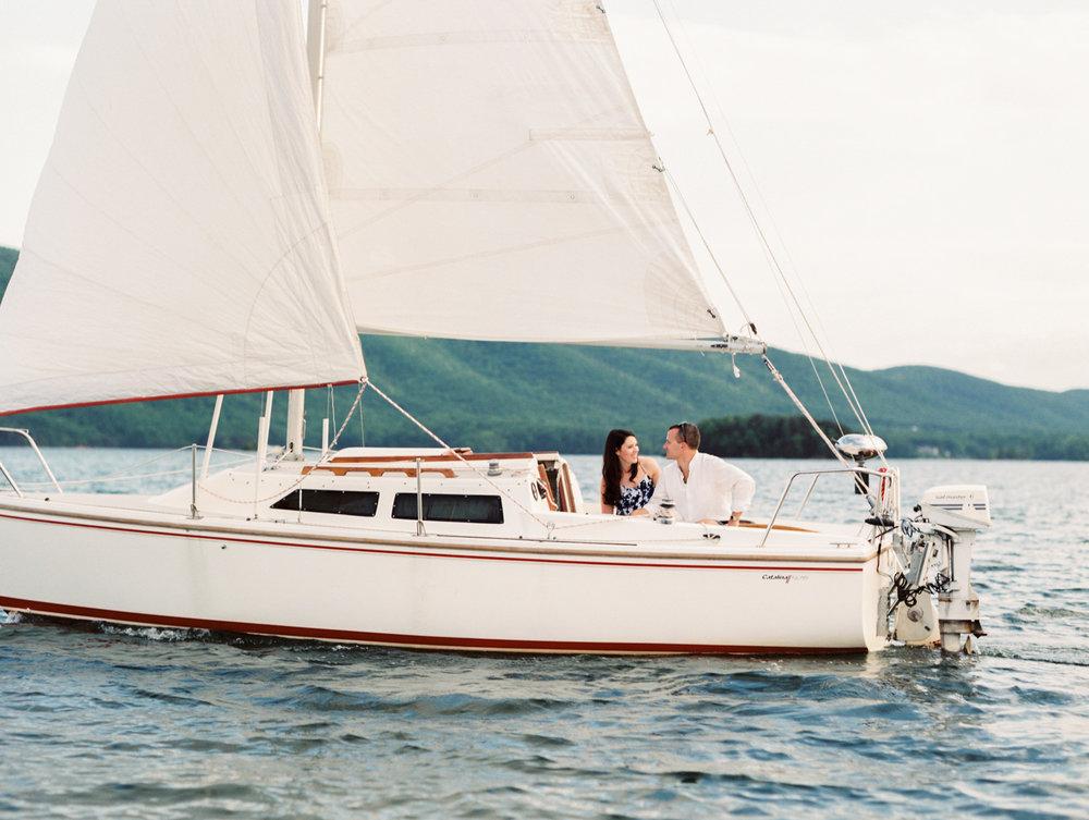 nautical sailboat engagement session - smith mountain lake, vaMegan & Court