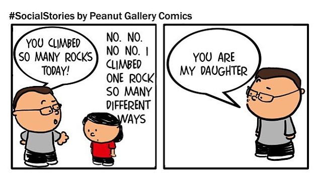 Apple doesn't fall far from the tree. At least she has the good traits? Story found on social and made into a comic by PeanutGalleryComics.com.