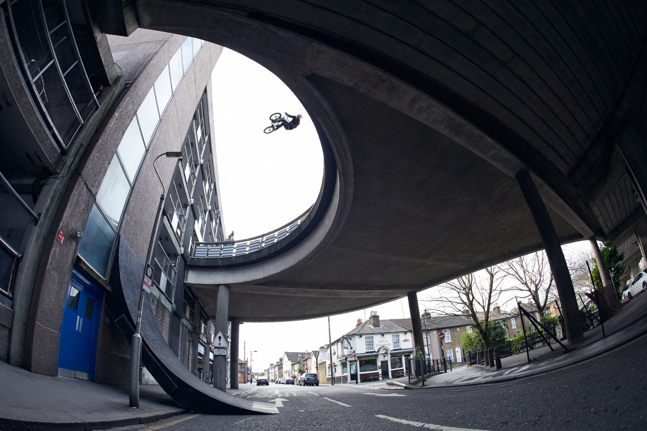 georgemarshallphoto :     Sebastian Keep redefining the boundaries of BMX.   The final Ride UK cover, April 2015.