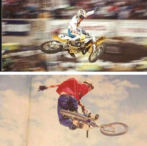 Guy Cooper and the Blue Falcon getting Radical!   Poached from BF's  Instagram.