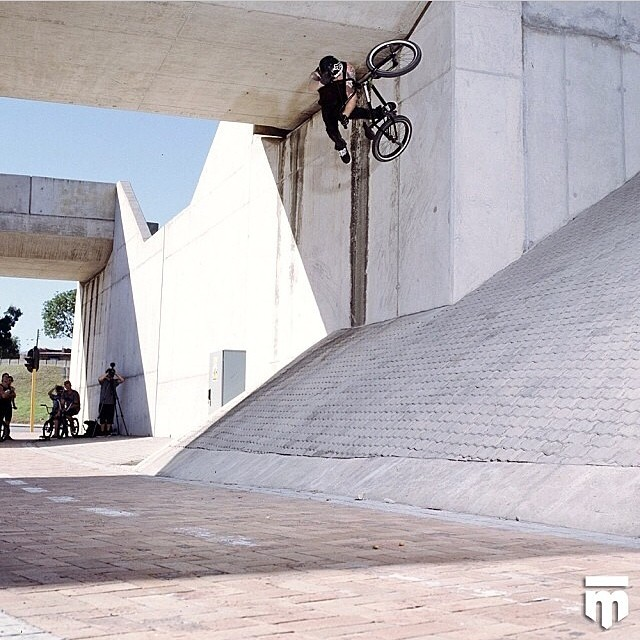 Greg Illingworth  tweaking a one footed flatty whilst filming for  MAKE IT HAPPEN .