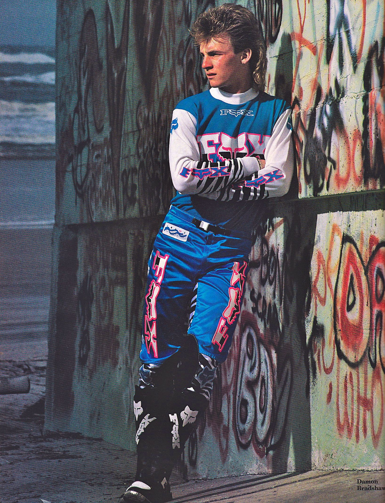 The Beast from the East,  Damon Bradshaw . This dude kicked a lot of arse in the early 90s when he burst into the pro moto scene. Business up front, party in the back…