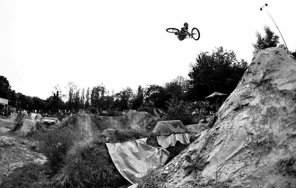 Leo Forte keeping it moto.   Snap by   J D WILLIAMS   .