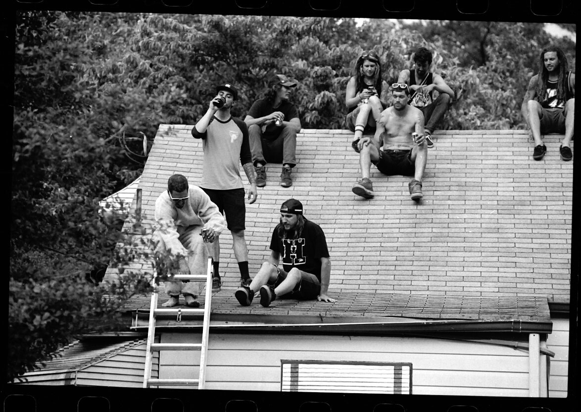 Another great snap by  Korey Kryder  from the Lords of Fun trip as the crew wait for a hungover and determined  Neil Hise  to jump on to, and off of, the roof…   BEAT ASS  drops this Friday 13th over at  Defgrip .