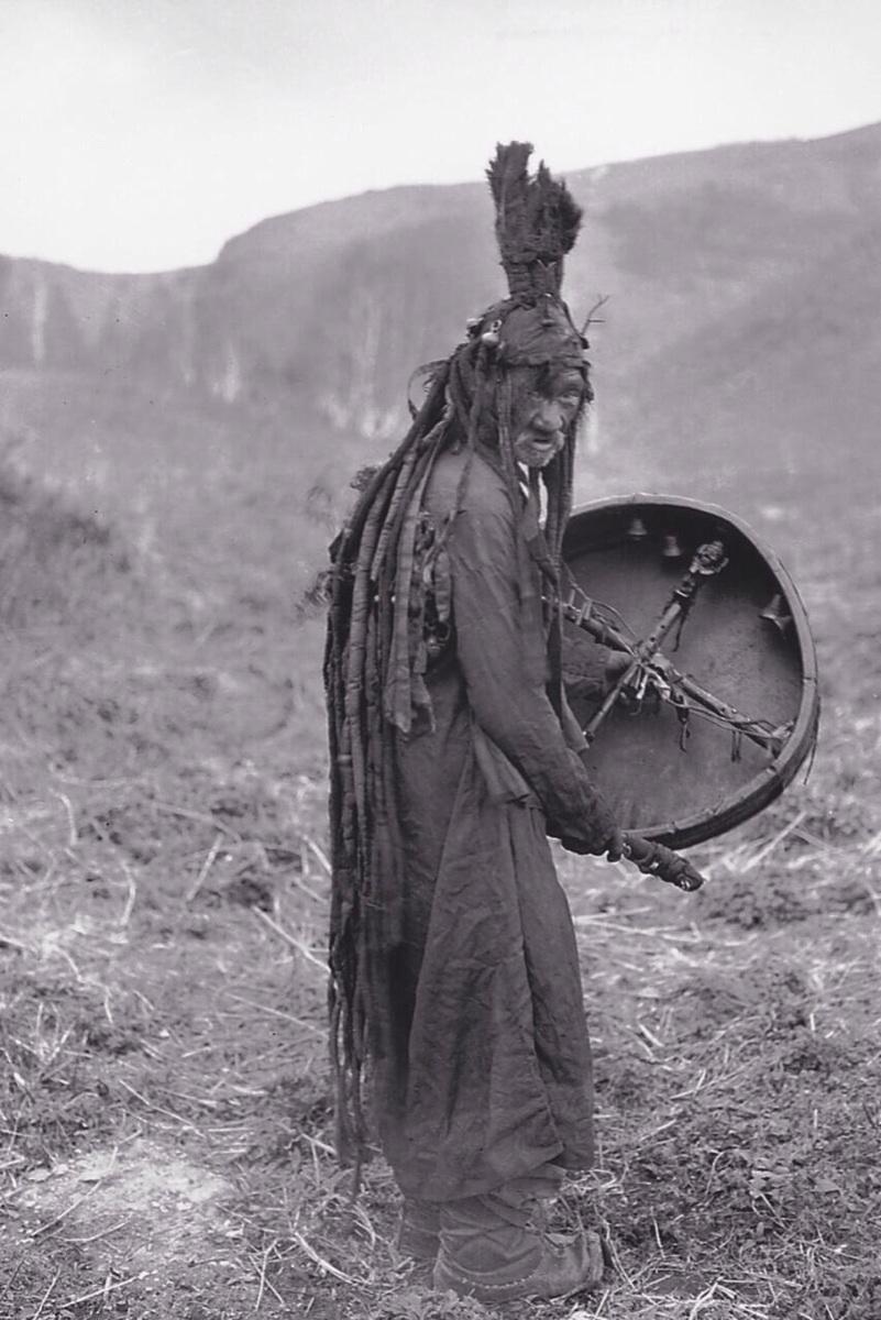 Mongolian shaman, c. 1909