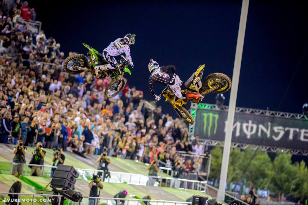 Battle of the scrubs … RV vs Stewart. 2014 Supercross is going to be wild.