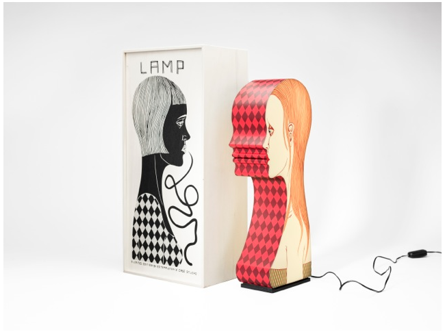Rad Ed Templeton lamp.