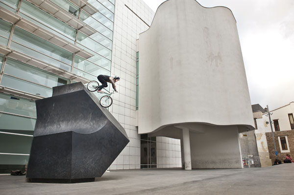 Leo Forte dropping in at the infamous Macba spot in Barca.. Voting has just opened for this years Ride To Glory (aka BMX's version of King Of The Road) team Fox gets our vote because we made if for them!  Check it out .