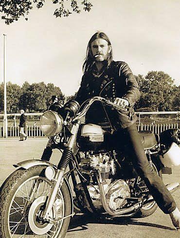 Lemmy on two wheels.. Get well soon!