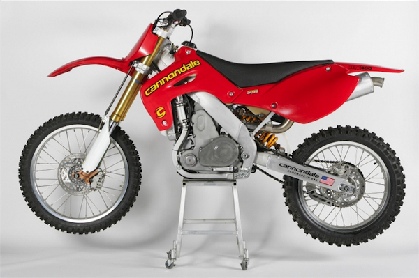 The ambitious, ill-fated MX bike that sent Cannondale bicycles into the red. Interesting read right  here .