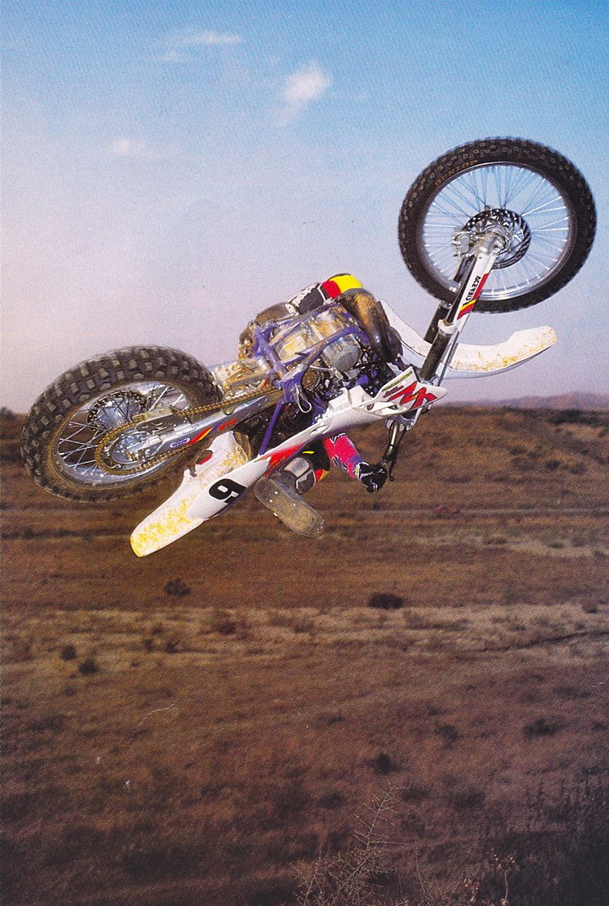 Bradshaw (we think), way upside down in the 90s.