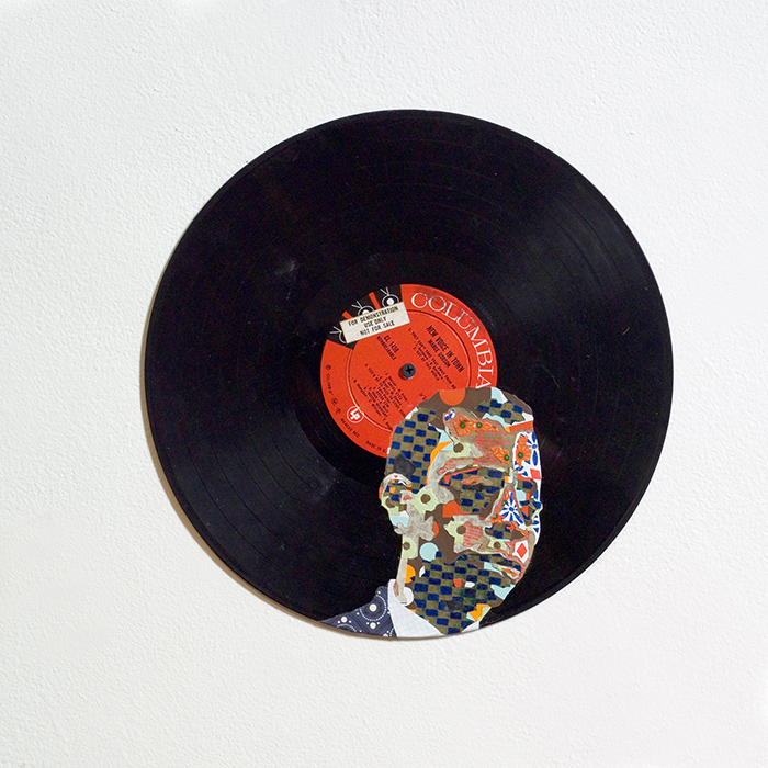 Lorna Williams-new Voice in Town James Baldwin-mixed media on record-12 inch diameter.jpg