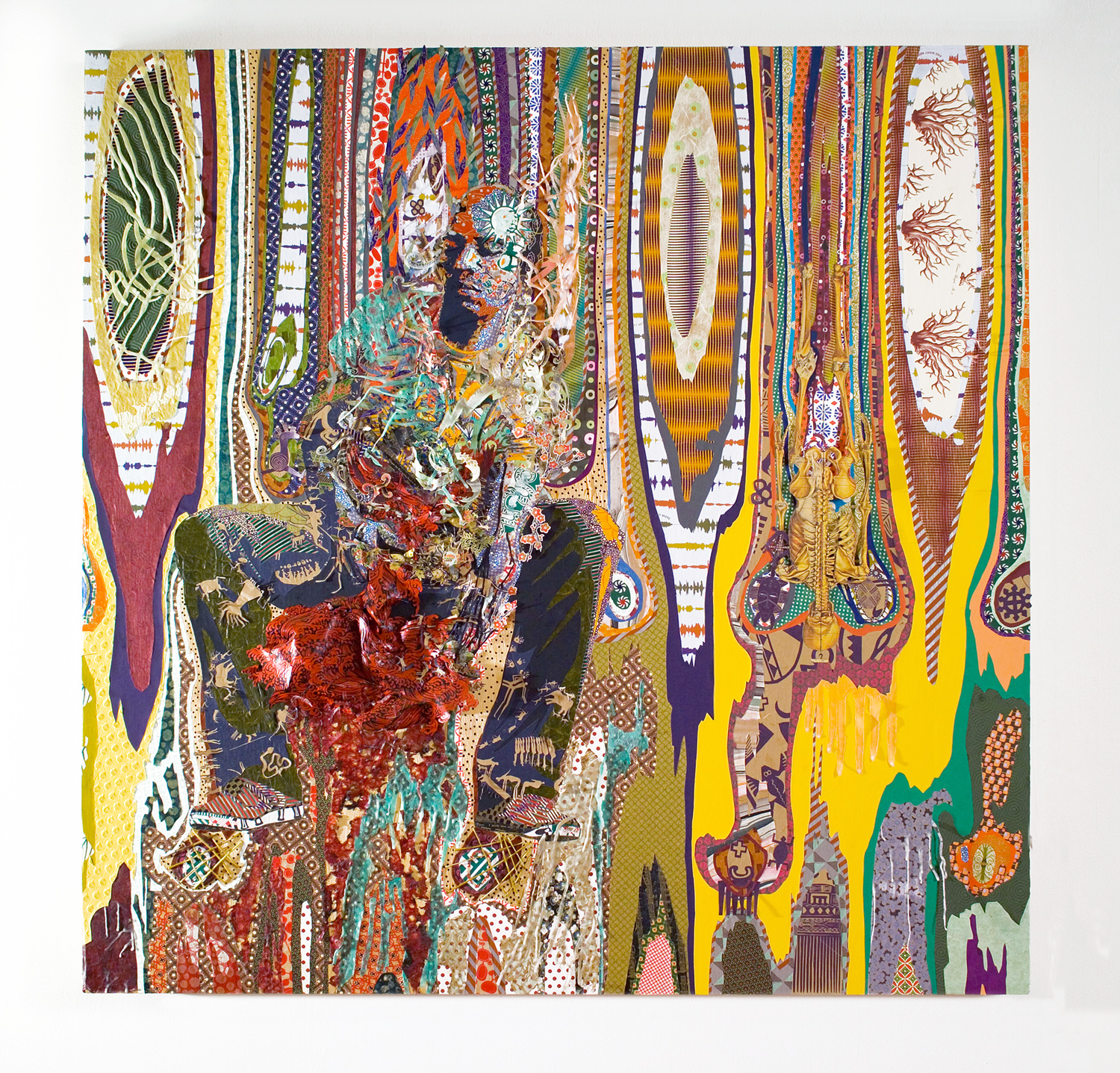 Lorna Williams-Olaniyi Variations of a Bloodline-mixed media-48x48x4-nor cord.jpg