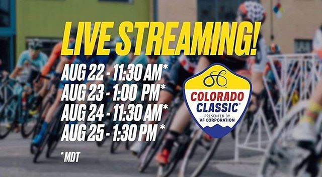🚨LIVE STREAM ALERT🚨 Tune in live on YouTube for all the #coloradoclassic action starting THURSDAY!!! Link in bio.