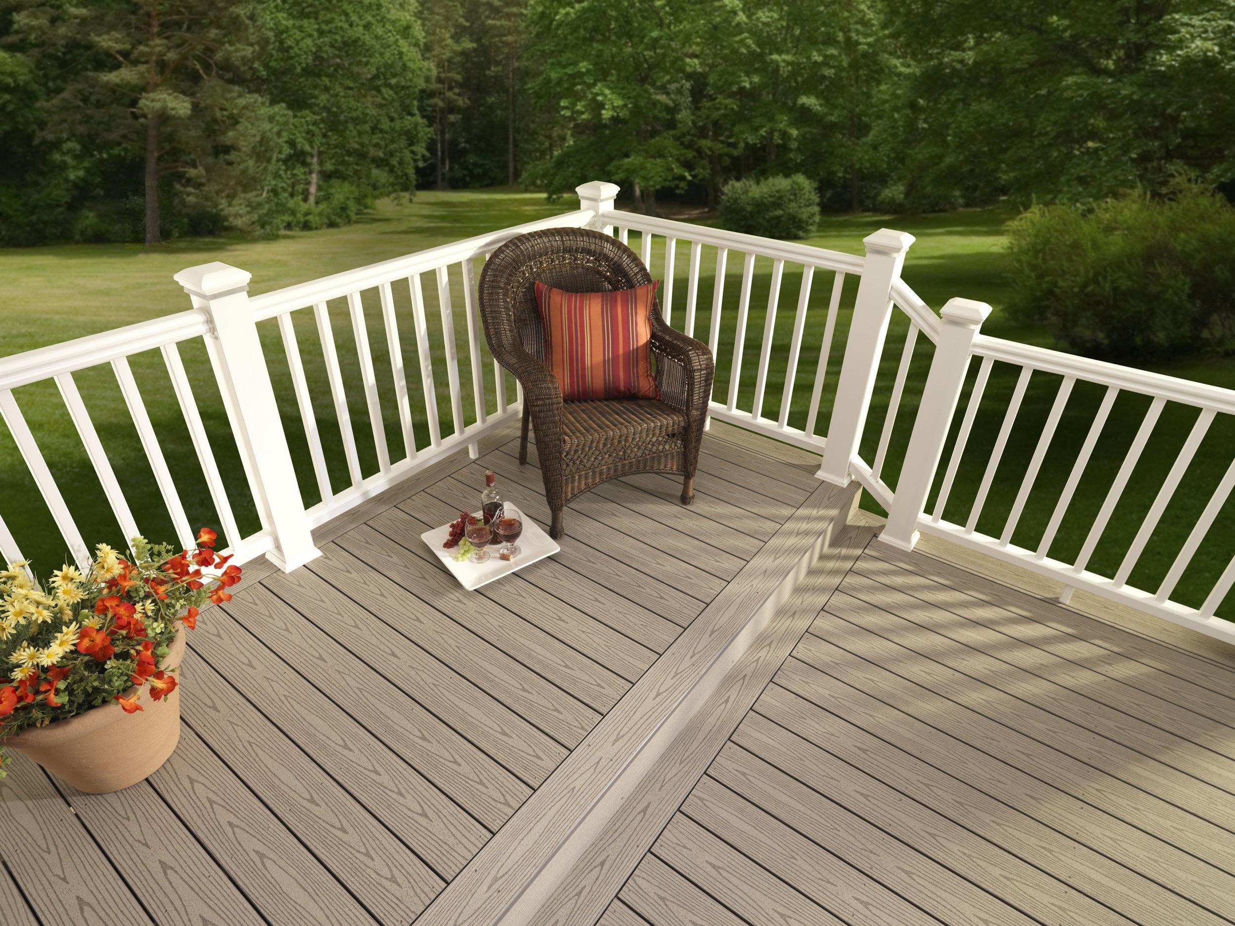 deck custom composite railing timber tech trex