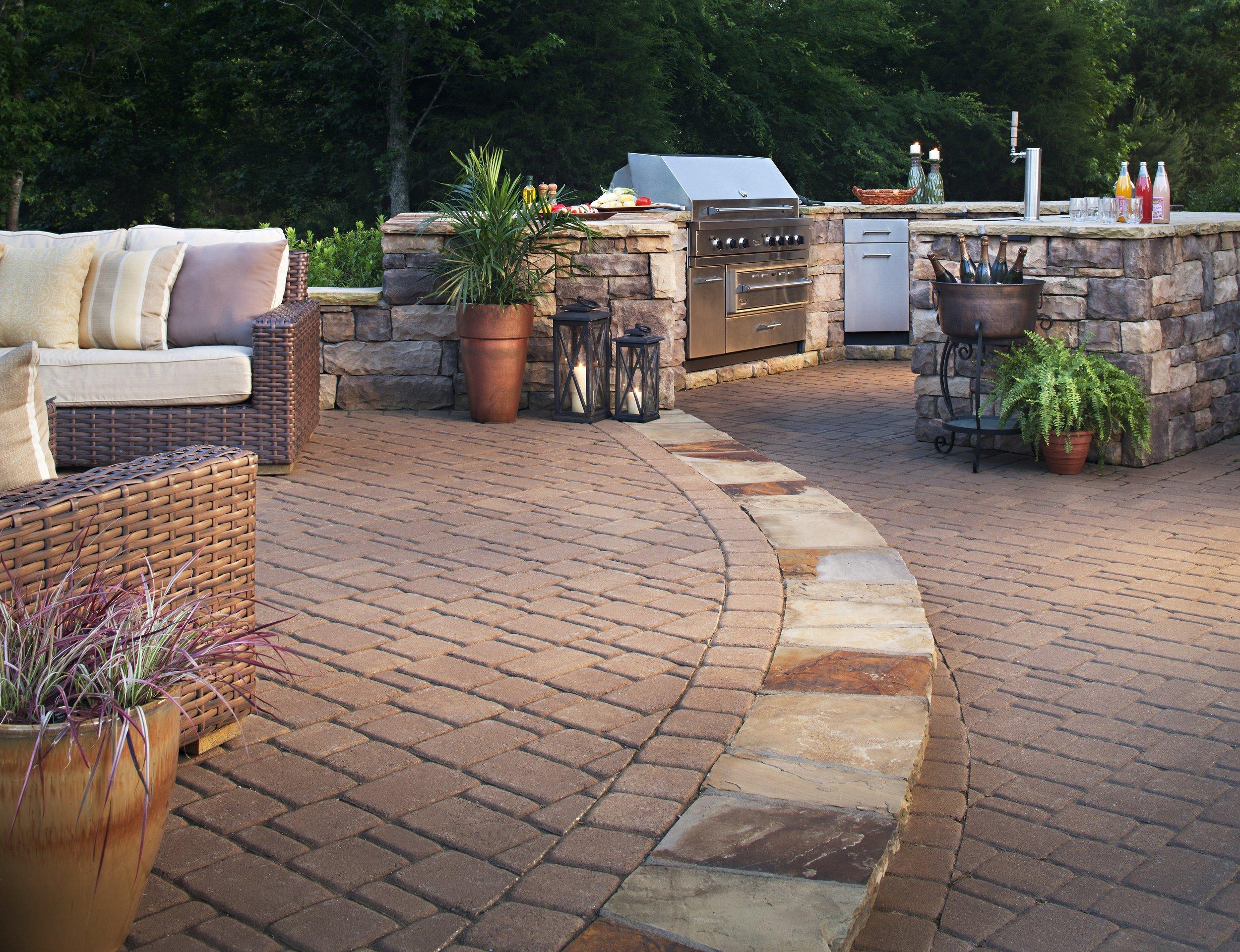 outdoor kitchen patio landscape design backyard bbq