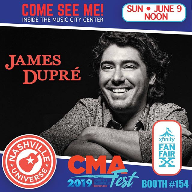 Another one for the gram, y'all! Come see me tomorrow at the @nashvilleuniverse booth. Noon sharp! #CMAfest