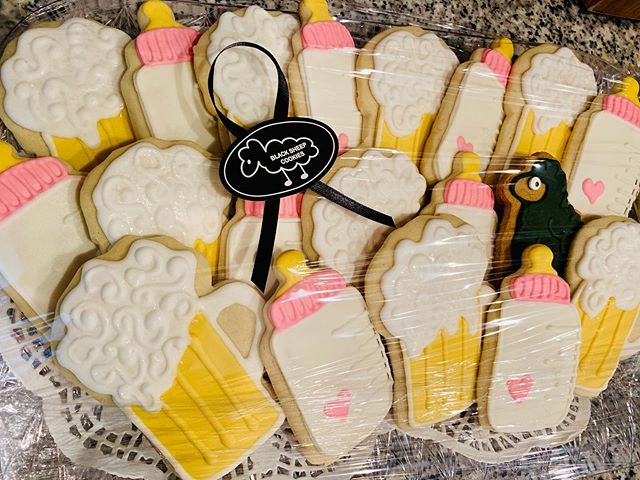 Thanks to @blacksheepcookies for these badass cookies for our diaper-keg party. They look amazing! #diapersandbeer #huggiesandchuggies