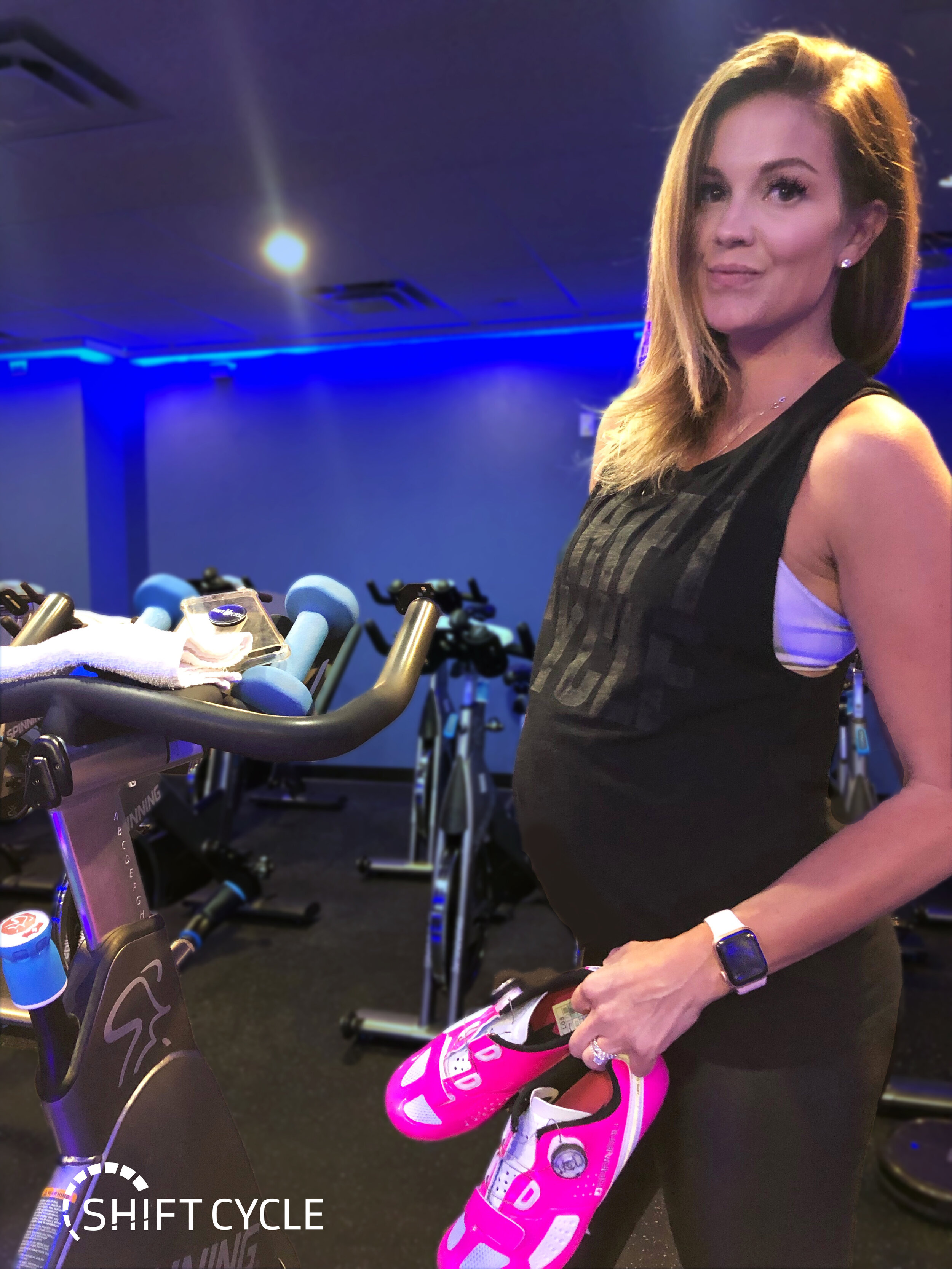 Whitney Herman, Founder & Owner of Shift Cycle + Fitness - 24 Weeks Pregnant